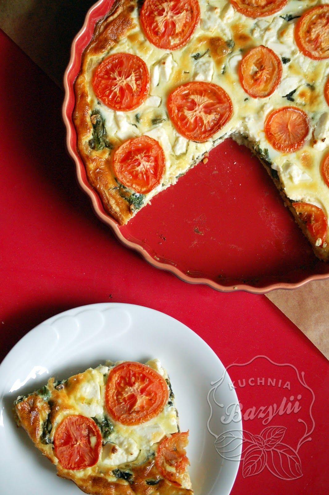 Kuchnia Bazylii Tarta Ze Szpinakiem Fetą I Pomidorami