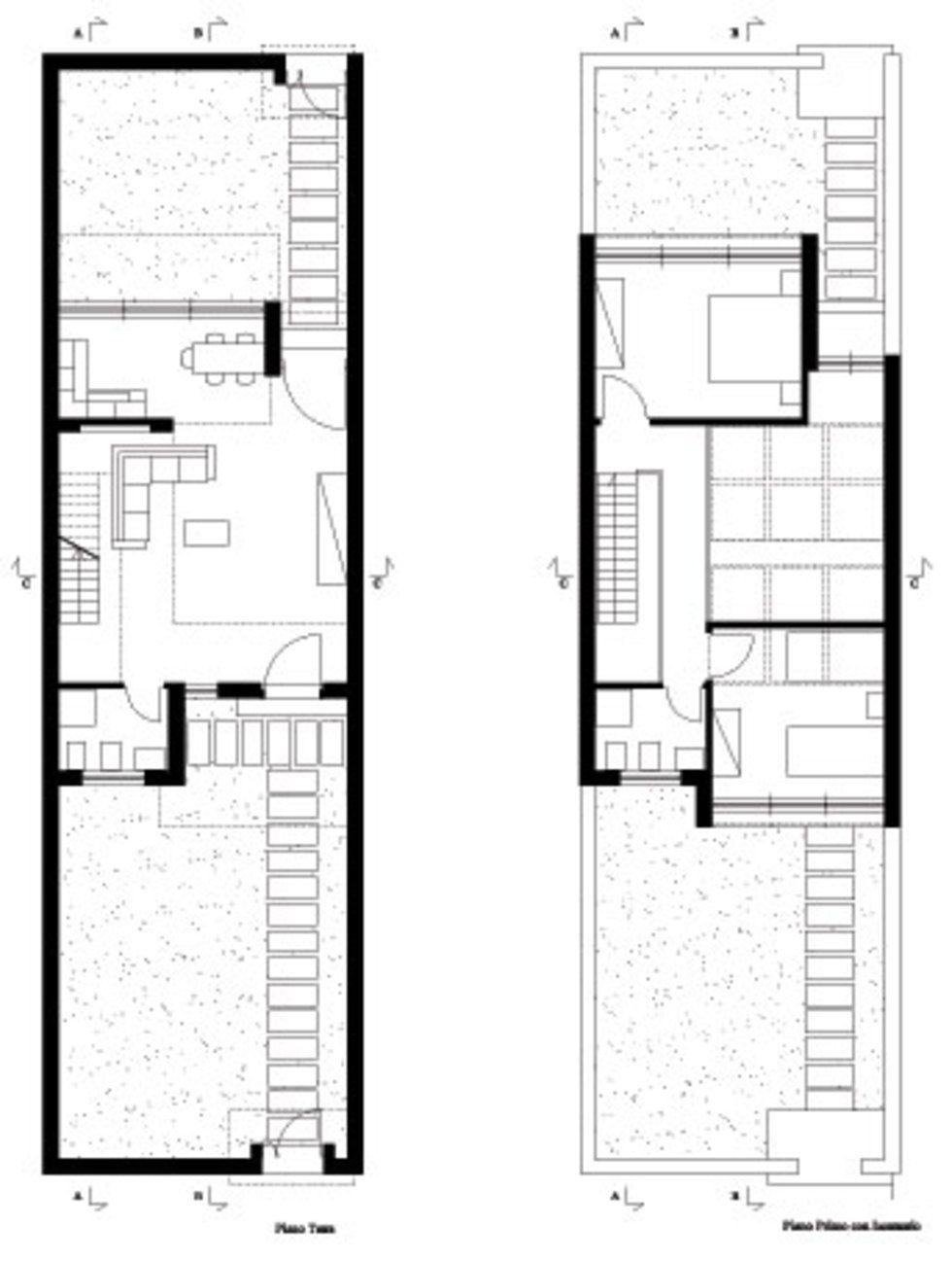 Progetto di case a blocco duplex a schiera proyectos for Piante case moderne