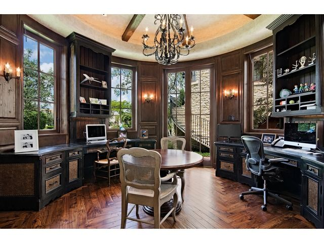 Traditional Home Office Kids Homework Room Grey Oaks Naples