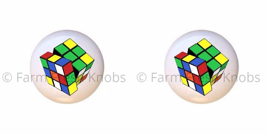 set of 2 knobs cube puzzle rubiks sports and recreation