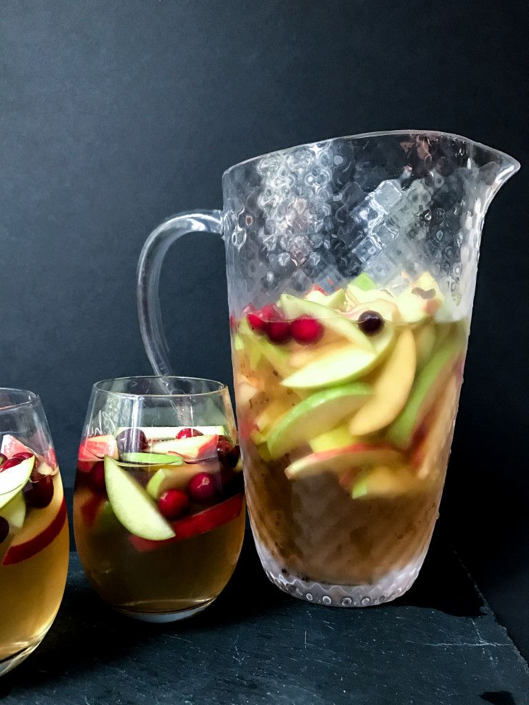 Maple Cranberry Apple Sangria Order in the Kitchen