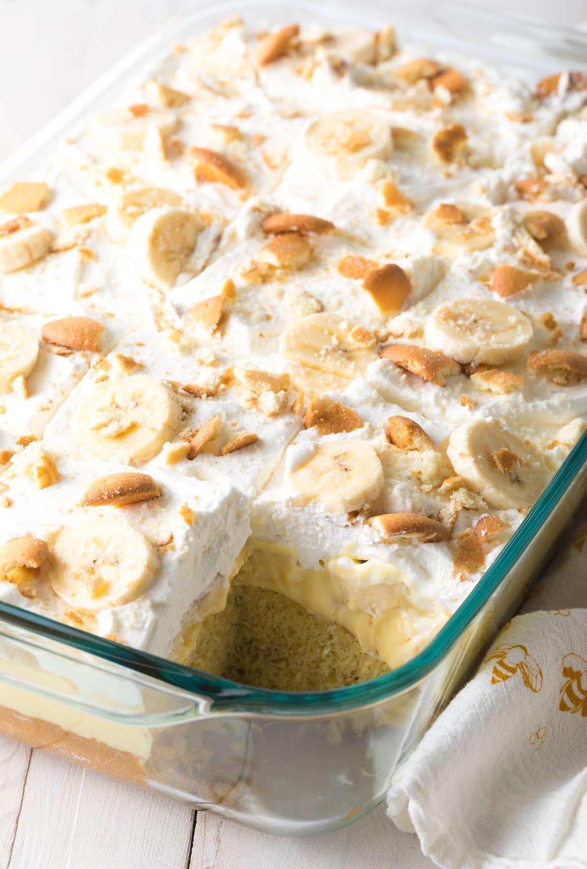 cfb216206699 Fluffy Layered Banana Pudding Bake Recipe  ASpicyPerspective  easter   bananacake  spring  potluck