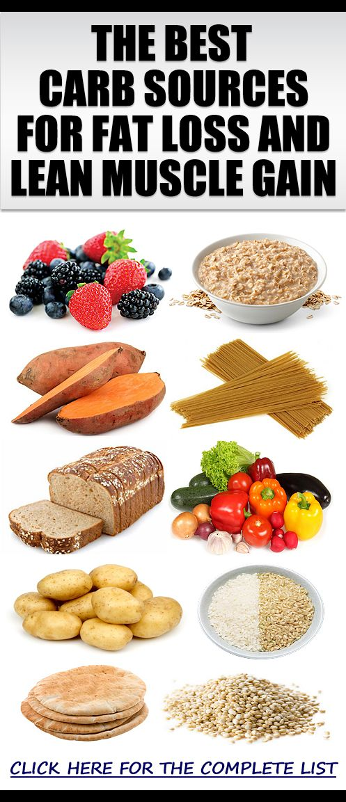 The Best Sources Of Healthy Carbs For Fat Loss & Lean ...