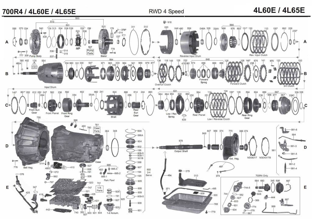 4l60e Transmission Rebuild Manuals 700r4 Instructions For Rebuild Transmission 4l60e Transmission Rebuild Rebuilt Transmission Transmission