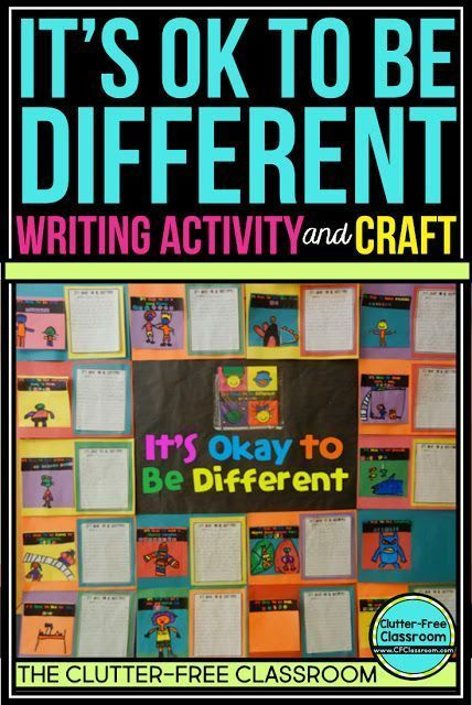 Teaching Diversity: It's OK to be Colorful & Creative -  Elementary kids get creative with bullying prevention. It's OK to Be Different is a book by Todd  - #colorful #creative #diversity #MartinLutherKingJrCraftsForKids #martinlutherkingjrcraftsforkidsihaveadream #martinlutherkingjrcraftsforkidslessonplans #teaching