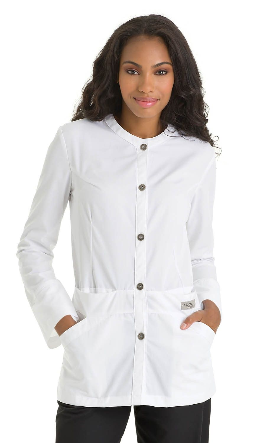 "Collarless Neckline 31"" Lab Jacket"