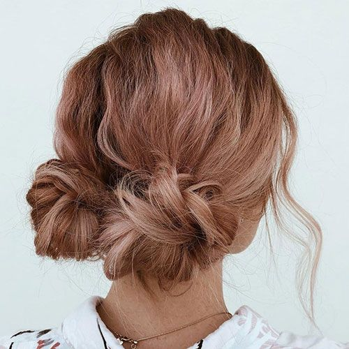 65 Cute Bun Hairstyles For Women To Get in 2020