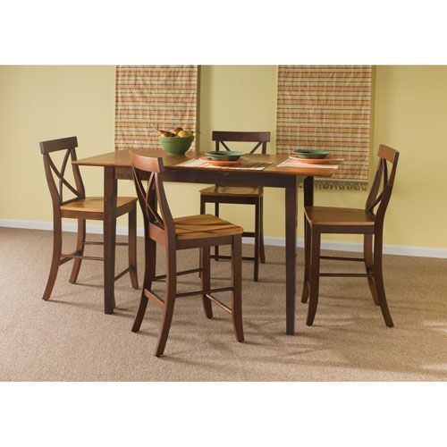 Cinnamon And Espresso Five Piece Gathering Table Set