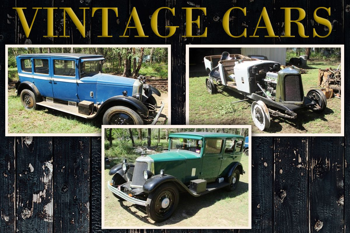 These Armstrong Siddeley Vintage Cars as well as various car parts ...