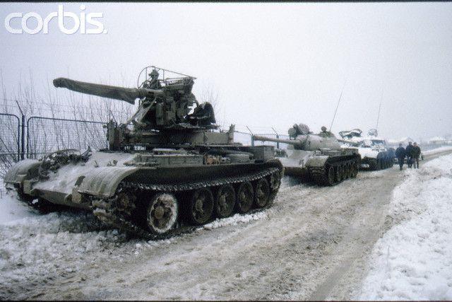 сербский Т-55 вместо башни 40мм зенитка Бофорс