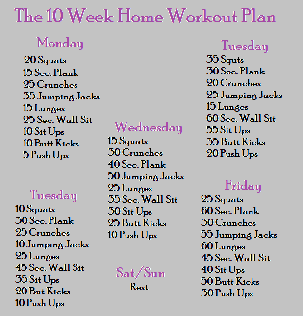 The perfect 10 week home workout plan - InShape Magazine | workout ...