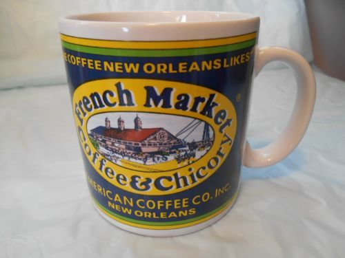 New French Market Market Coffee Mug Label of 1990 s Dated 1996 Coffee Chicory Beautiful - Fresh chicory coffee In 2019