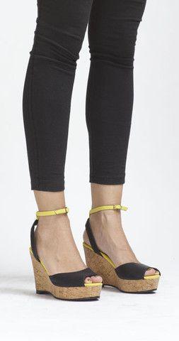 Vegan wedge sandal.