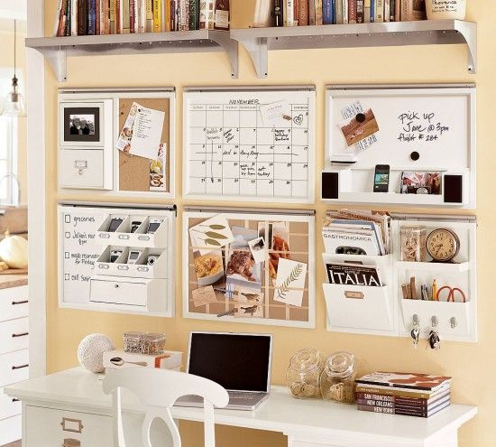 Colorful stationery home office desk decoration ideas 550x495