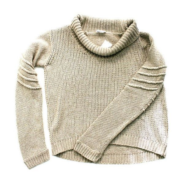 Traitor New York // / helmut lang loose knit turtleneck ($100-200) ❤ liked on Polyvore featuring tops, sweaters, shirts, jumpers, loose shirts, turtle neck shirts, brown turtleneck, brown shirt and turtle neck sweater
