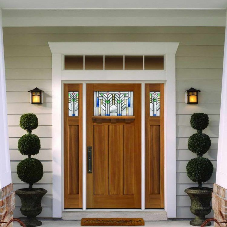 Luxury Entry Doors with Stained Glass