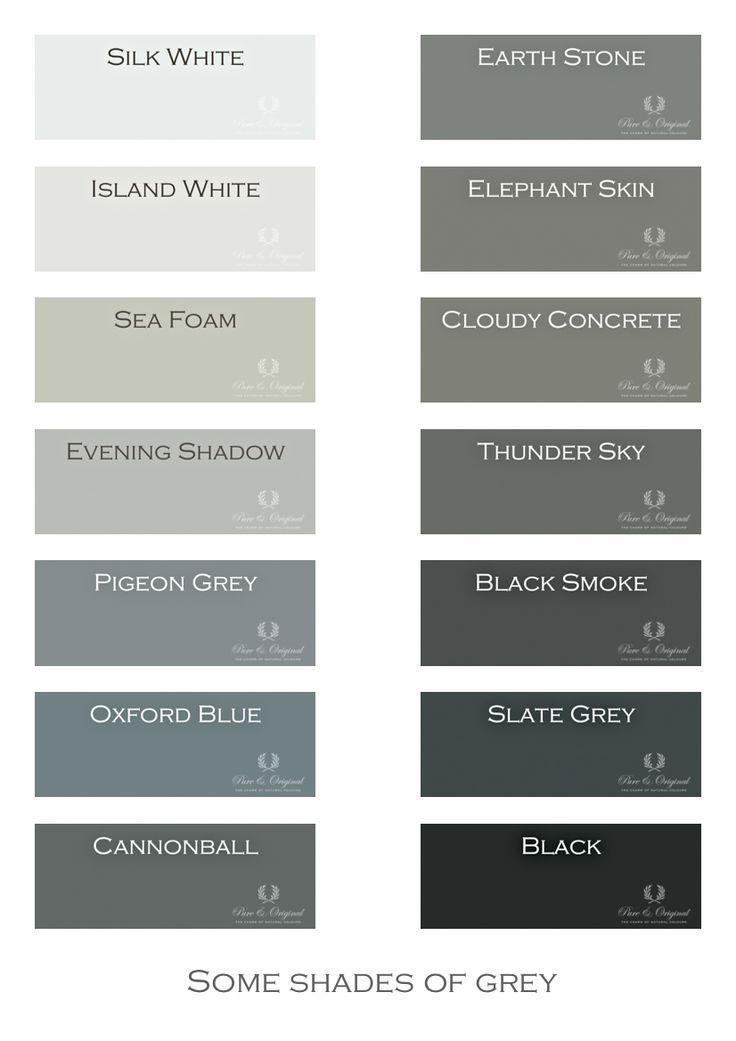 Grey Colors i love gray! shades of grey. chalk paint, lime paint, floor paint