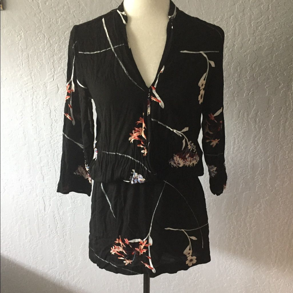 for hum dress floral mandarin sleeve floral and products