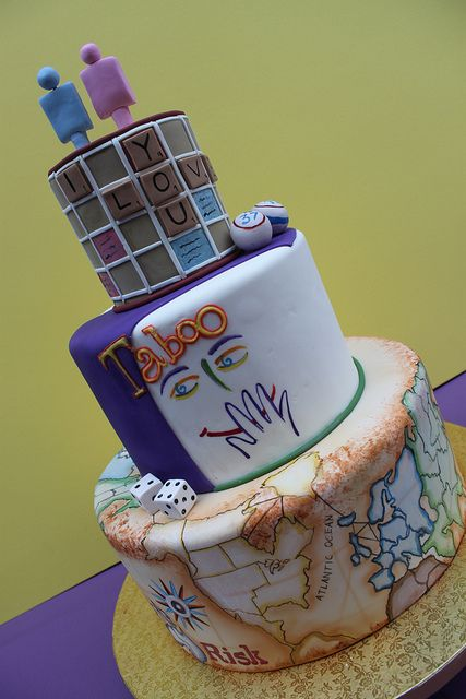 LOVE the board game theme!!   Boardgame Wedding by Alliance Bakery, via Flickr