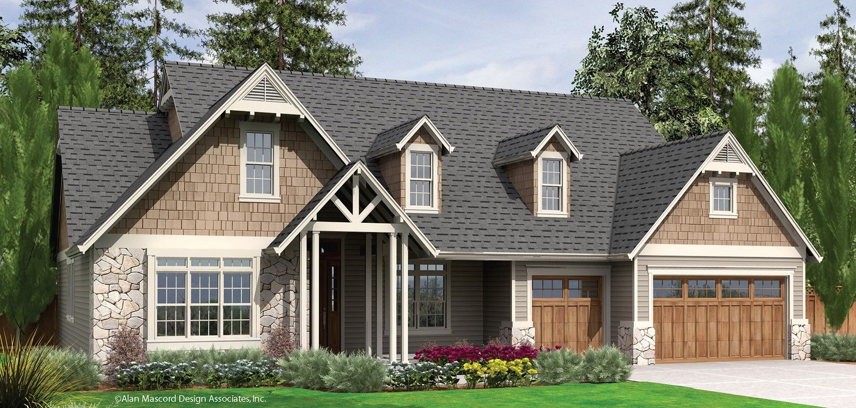 Mascord plan 22157 the alton craftsman house plans House plans mascord