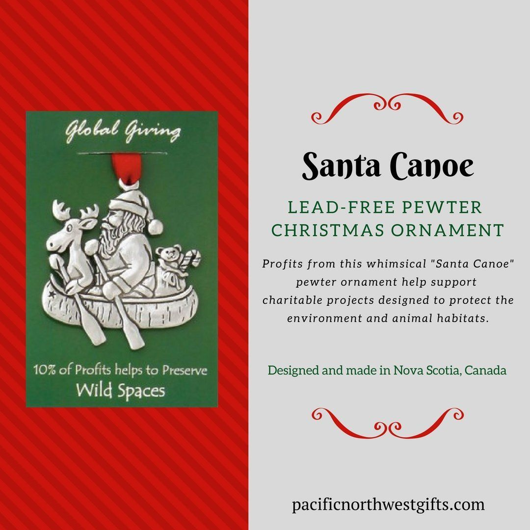 Santa Canoe Christmas Ornament Christmas ornaments