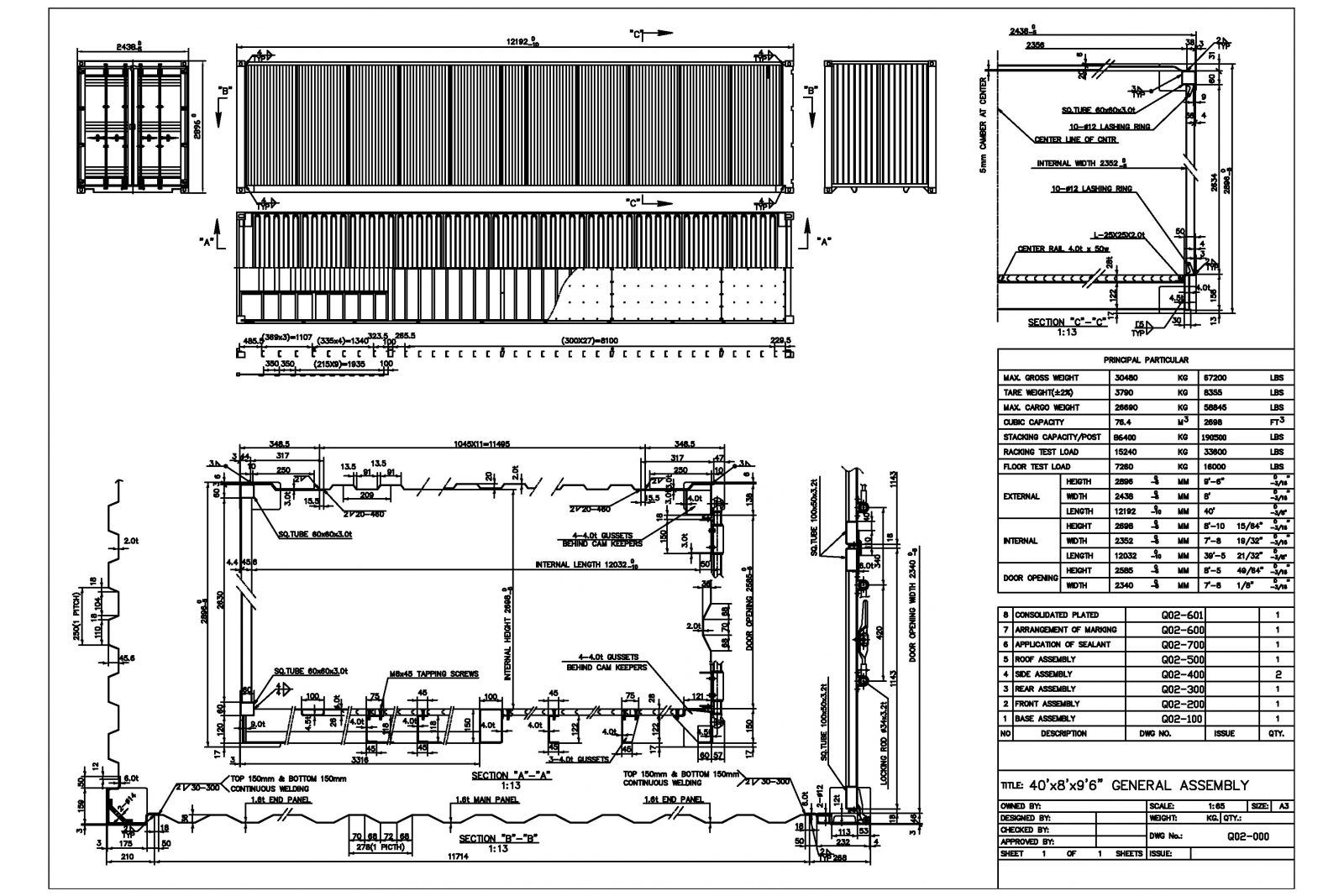 40hc Technical Drawing Shipping Container Dimensions Container Dimensions Shipping Container Dimensions Shipping Container