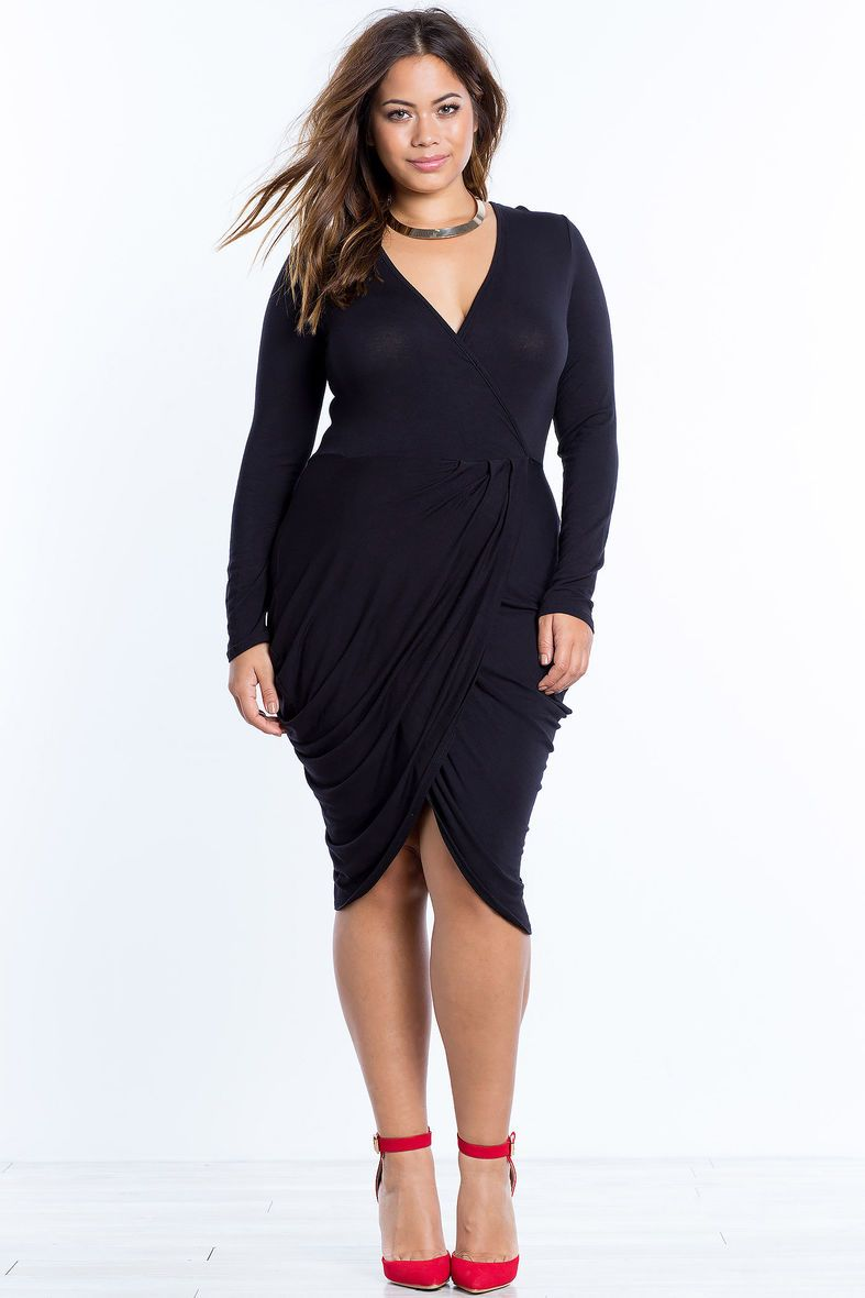 Plus Size Drape Tulip Dress Plus Size Fashion Pinterest