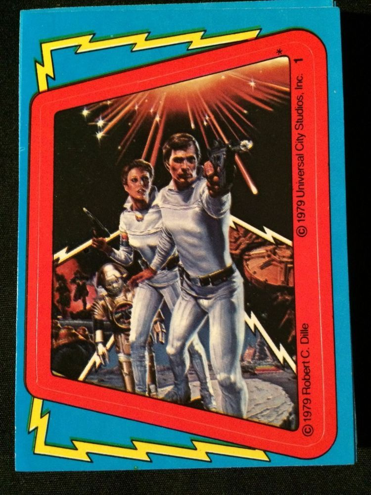 1979 topps buck rogers sticker set complete 22 card
