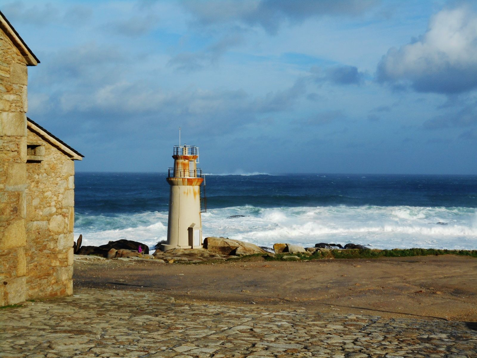 The Lighthouse Next To The Sancturary Muxia This Was My Third Time Visiting The Sancturary Lighthouse Places Pilgrim