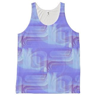 Blended Blue All Over Print Tank Top
