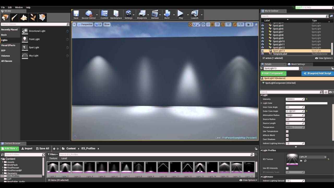 Free ies lighting profiles for unreal engine 4 youtube neat free ies lighting profiles for unreal engine 4 youtube malvernweather Images
