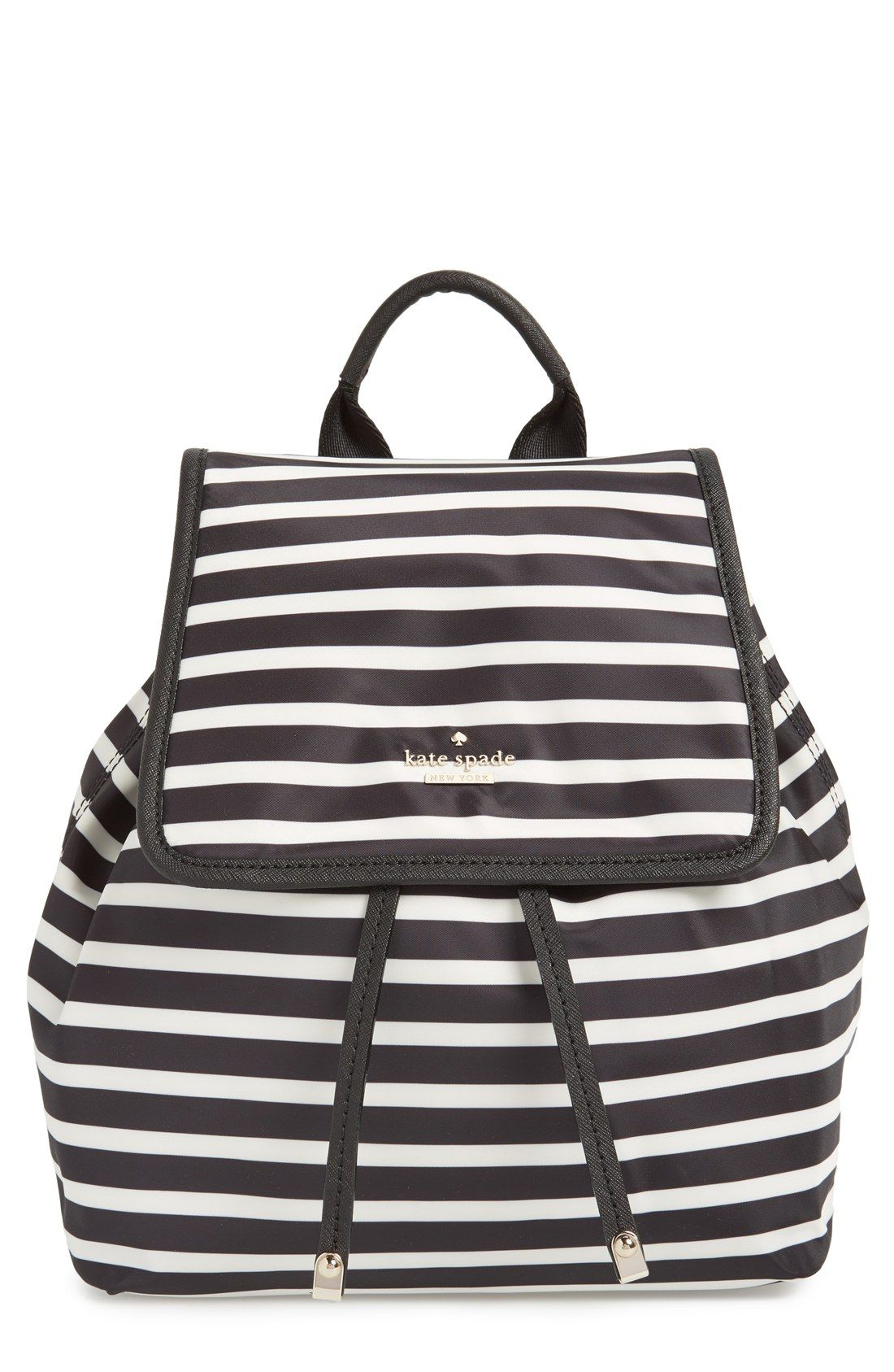 Adding this cute striped Kate Spade backpack to the wishlist.  c441dd9c81fd0
