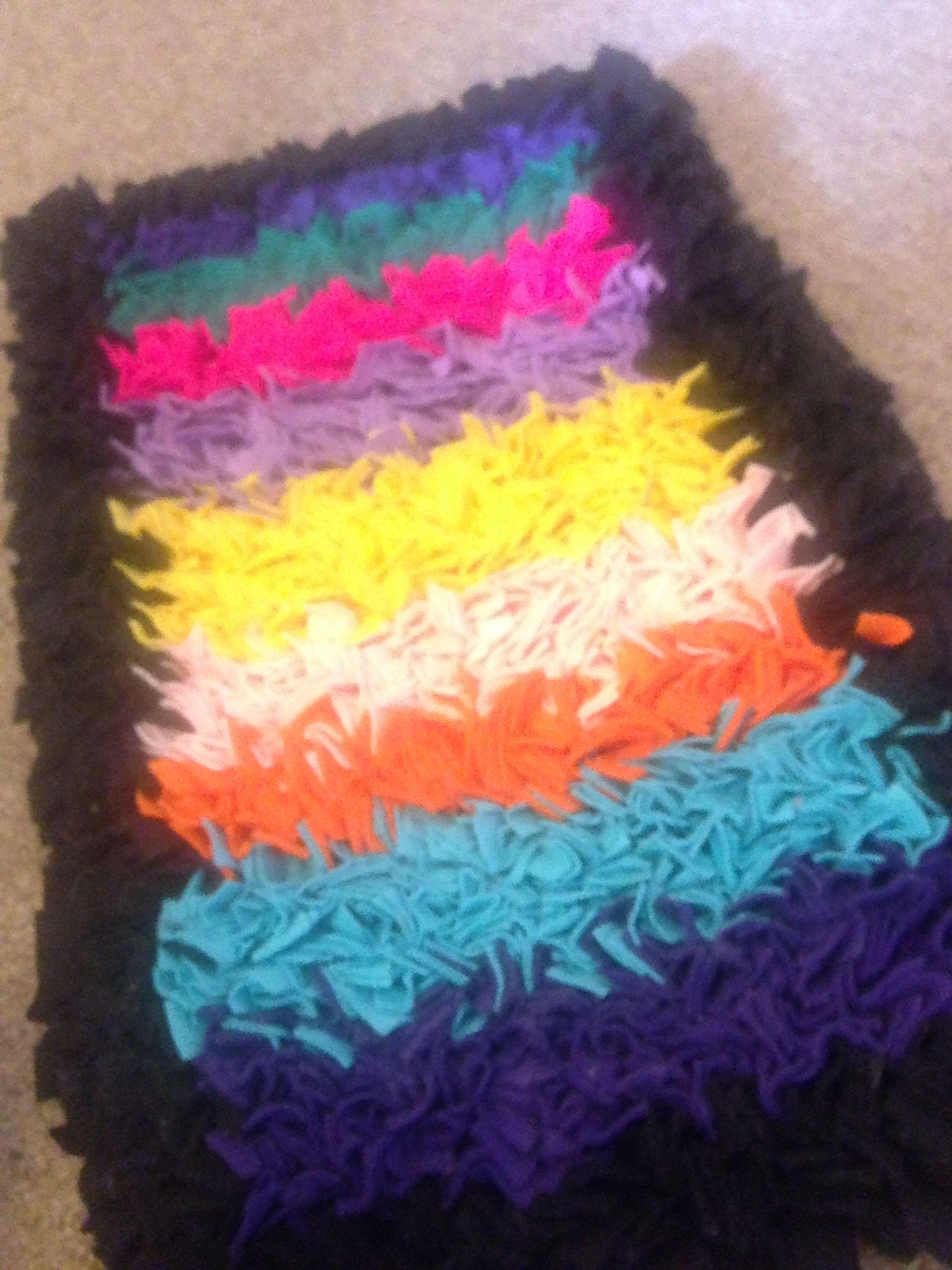 proggy mat. | rag rugs | Pinterest