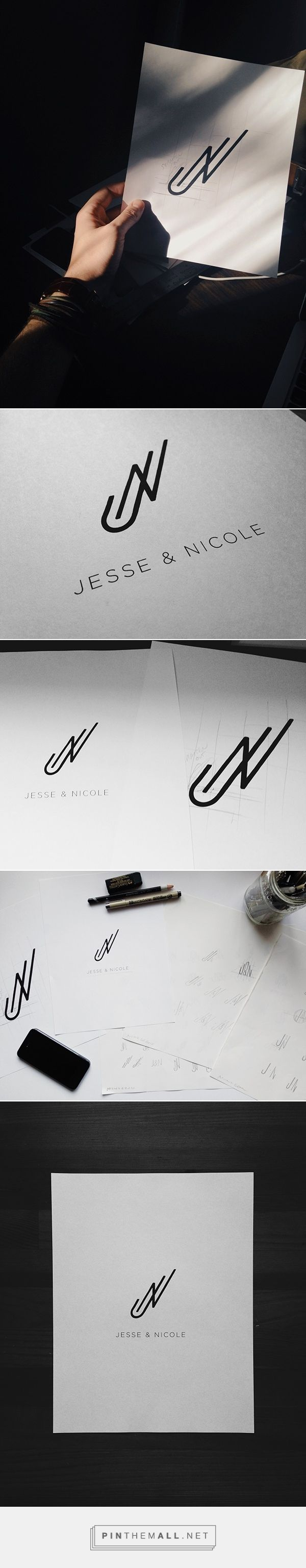J&N Monogram on Behance - created via https://pinthemall.net