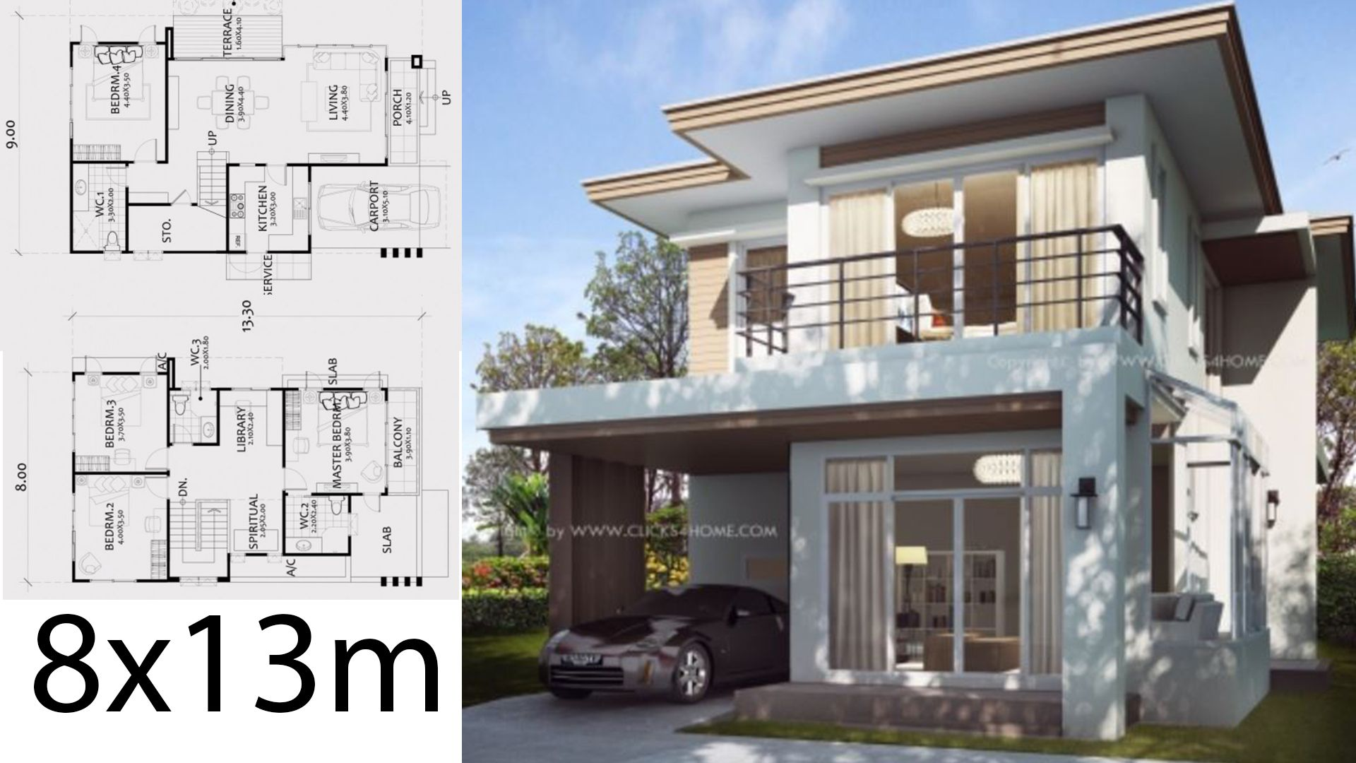Home Design Plan 8x13m With 4 Bedrooms House Description One Car Parking And Garden Ground Level Living R Home Design Plan House Design Bungalow Floor Plans