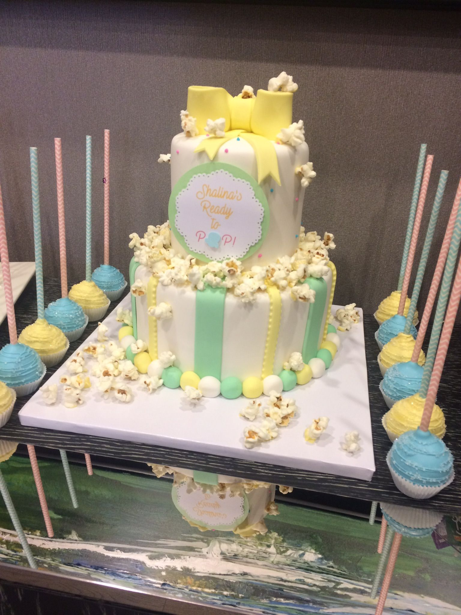 Ready to pop baby shower cake cake theme Toronto Cake She
