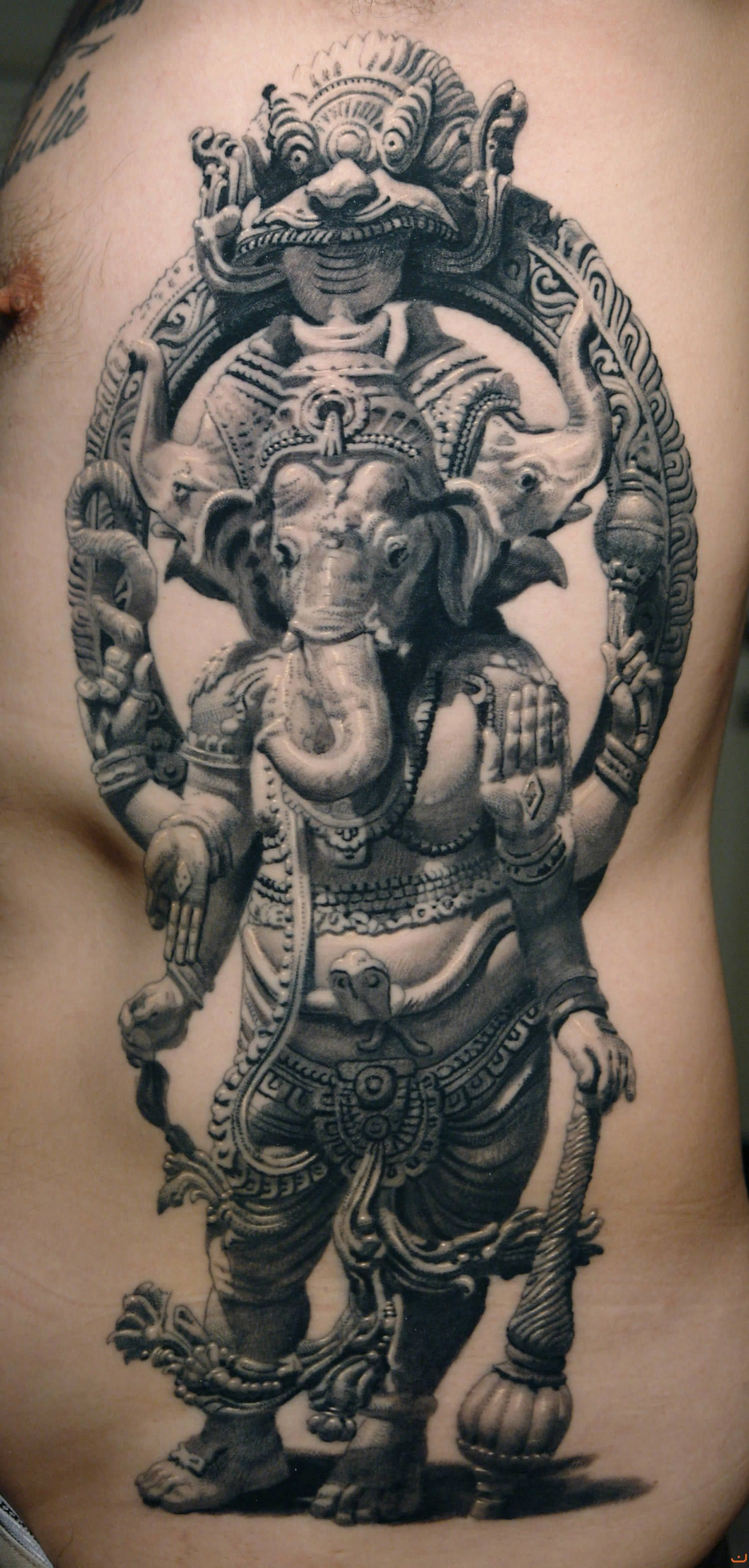 11 ganesha tattoo designs ideas and samples - Ganesha Tattoo By Sergiu Sanchez