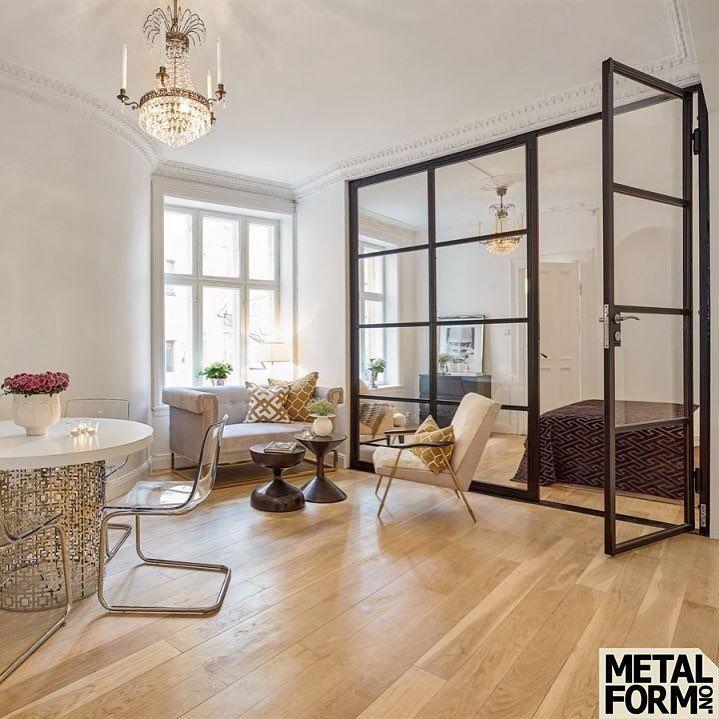 """Metalform on Instagram: """"Steel wall and door with glass #met…"""