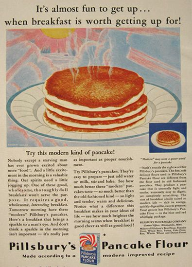 1930 pillsbury s pancake flour ad almost fun to get up