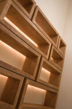 Built In Bookshelves For Catwalk Wood Bookshelves Living