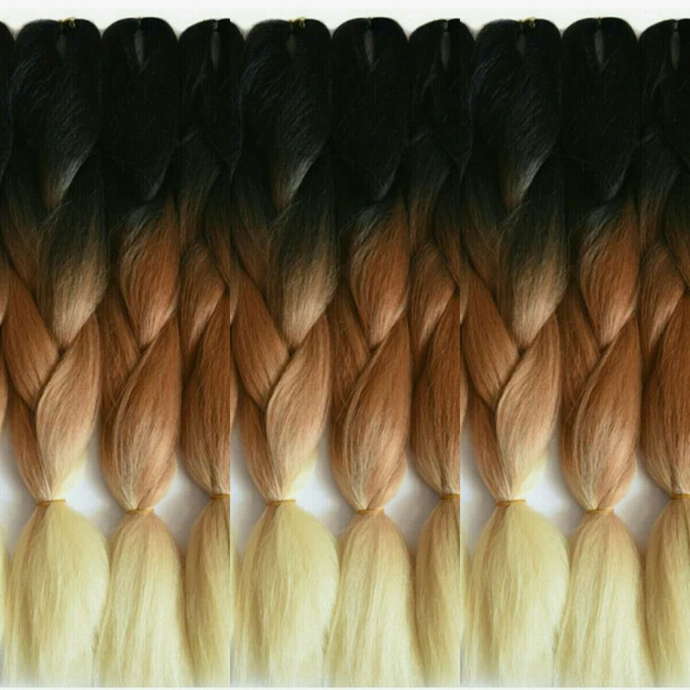 New Ombre 100 Kanekalon Jumbo Braiding Hair Kanekalon Is The Most Popular Fiber Used In Braids Twists And Synthetic Dreads You Will A Tranca Jumbo Trancas