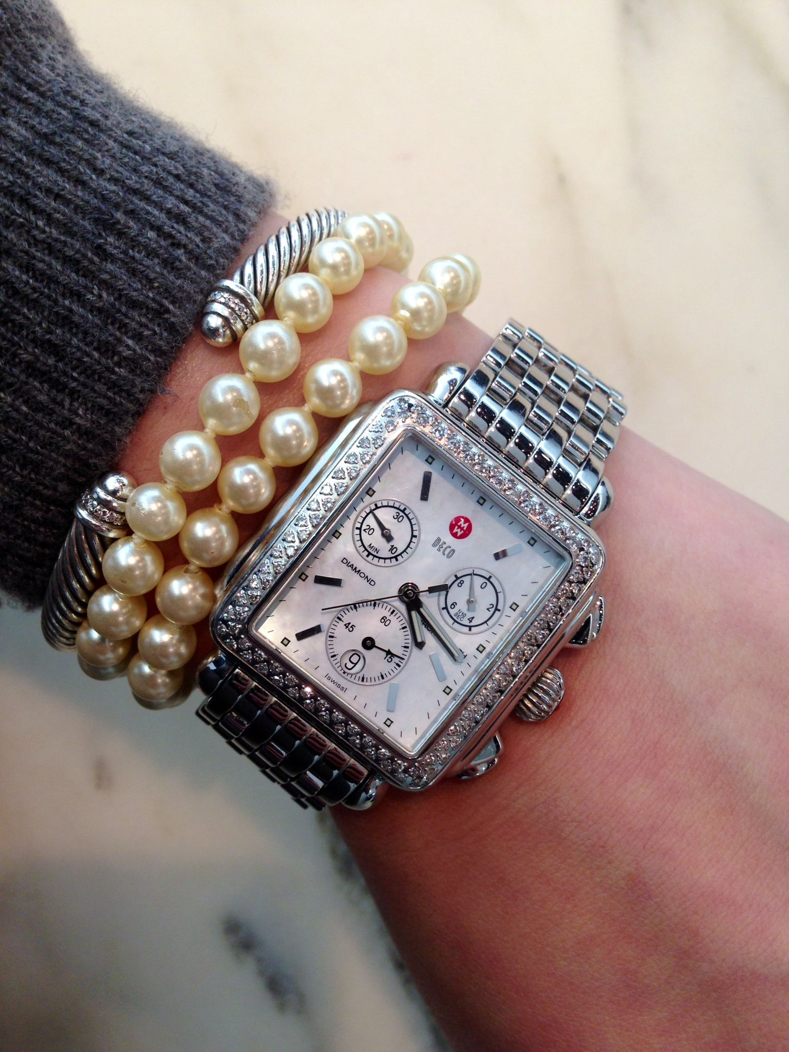 7b11e7d23 Michele watch, David Yurman, and pearls a girl can dream right ...