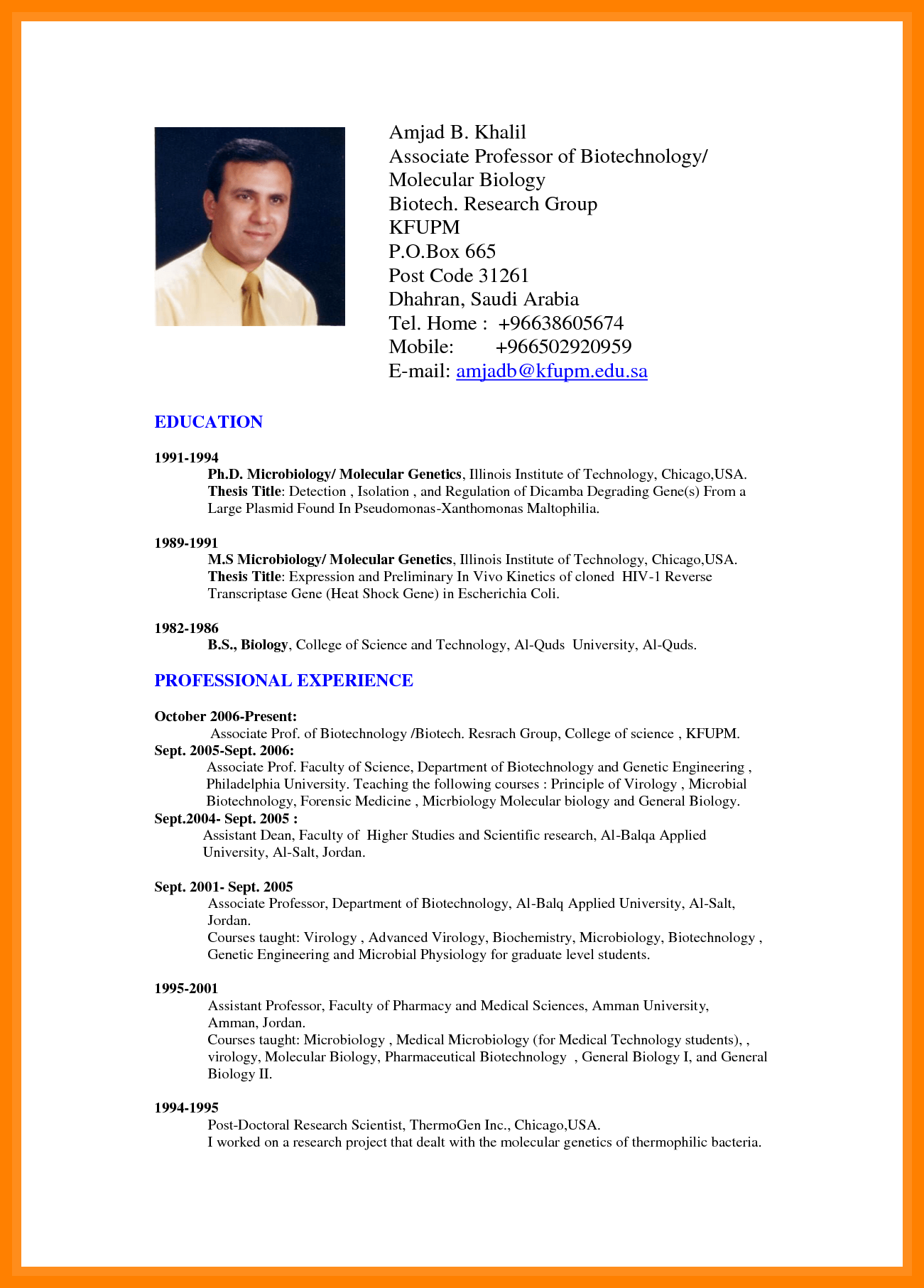 Image Result For Cv Sample Doc Sample Resume Format Job Resume Format Professional Resume Format