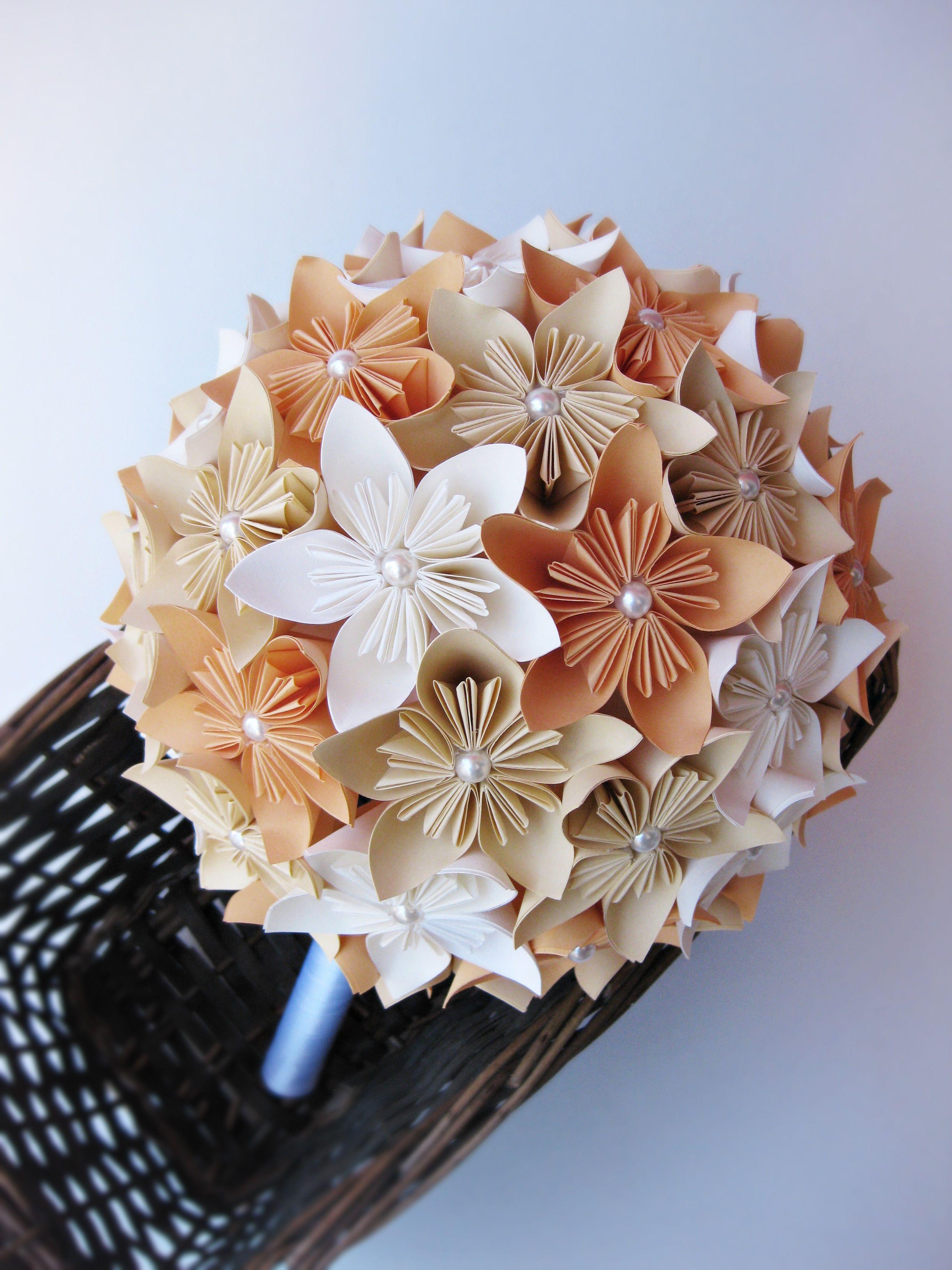Paper Bouquet Wedding Bouquet Kusudama Flowers Paper Flowers