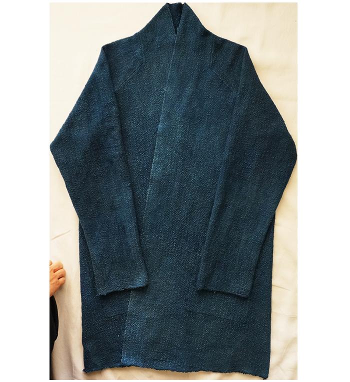 Indigo blue japanese asian haori noragi sashiko jacket | Lino ...