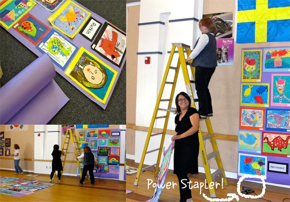 Prepping for School Art Show | School Art Show | Art lessons