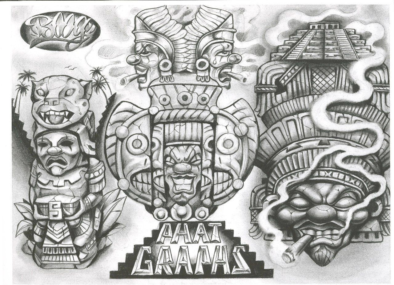 Boog From The Streets With Love In 2020 Aztec Tattoo Designs Boog Tattoo Skulls Drawing