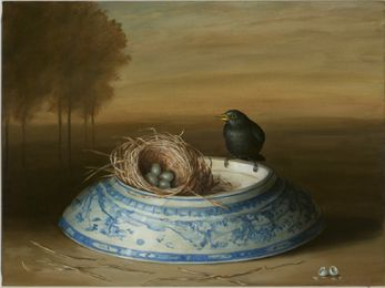 Vase, Nest and Bowl by David Kroll