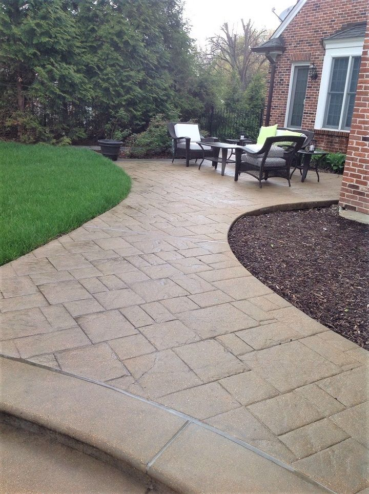 check out our latest repaired resurfaced decorative concrete