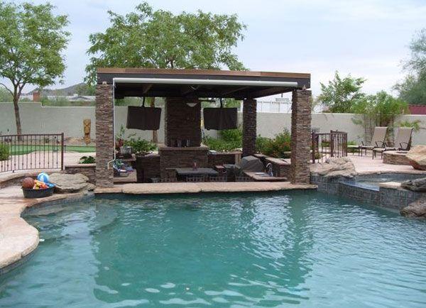 Landscaping In Arizona Sunken Patio Inground Pool Designs Pool Patio